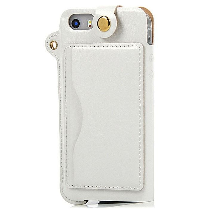 Luxury Crazy Horse Leather Fashion Cellphone Case Pouch w/Strap, Card Slot, Stand Function & Transparent Window for iPhone 5 5s - 8 Colors