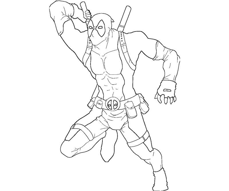 free printable deadpool coloring biy4u | coloring pages for adults ... - Deadpool Coloring Pages Printable