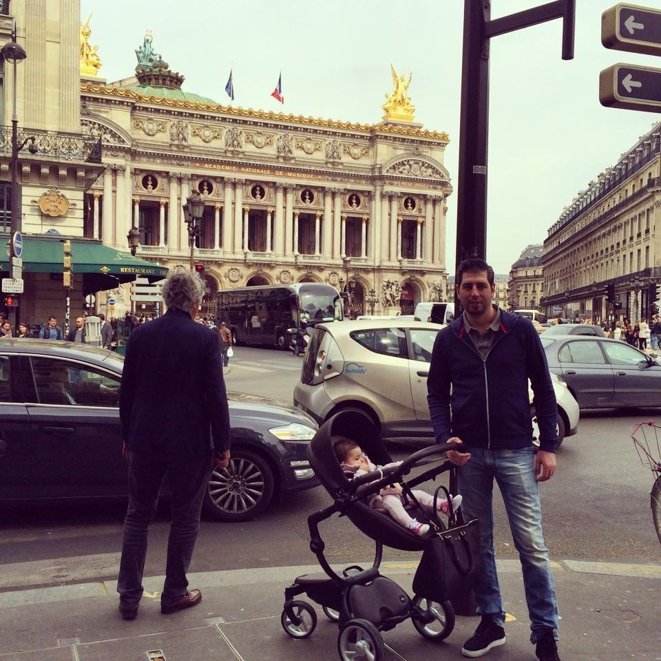 bonjour to lavin daddy with their black mima xari in paris! | klea's