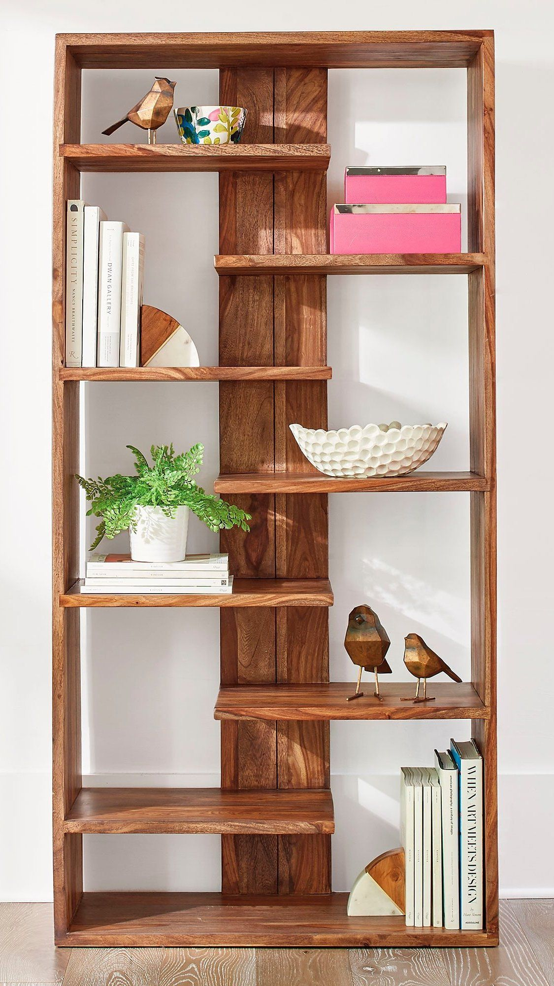 atlas sheesham bookcase in 2019 colorful living rooms bookcase rh pinterest com