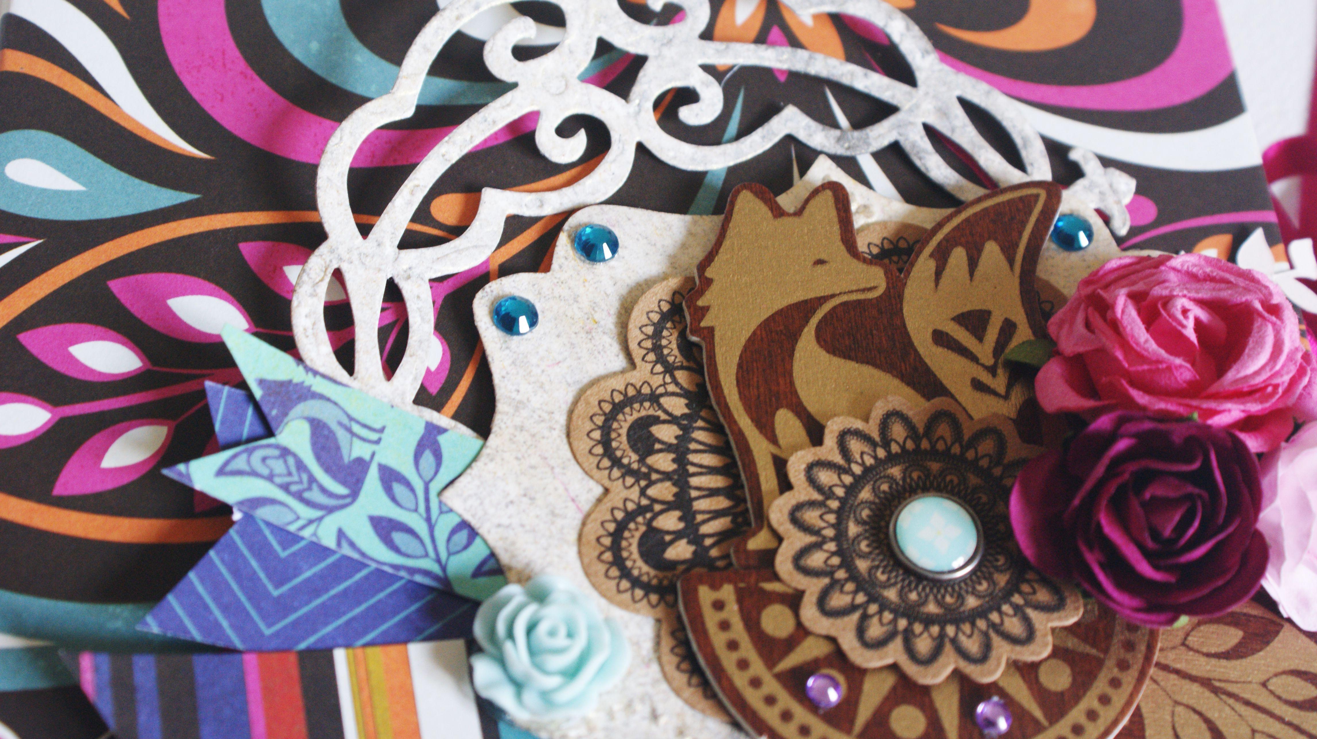 Mini àlbum scrapbook Grand Bazaar Basic Grey. Skparates by Amor Villar