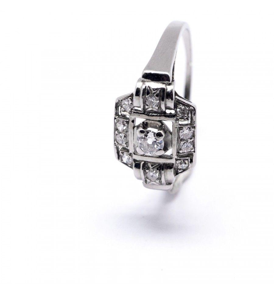 Souvent Bague Art-Déco, platine et diamants … | Pinteres… PR01