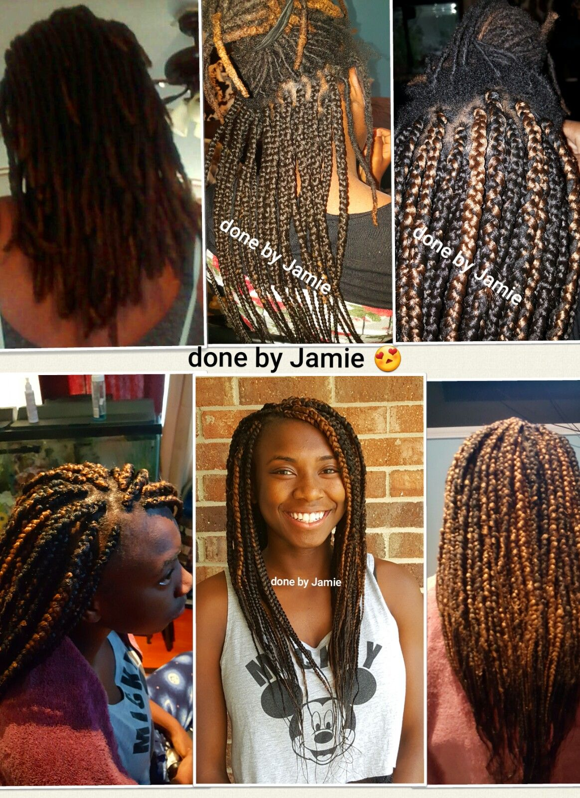 Box braids over locs