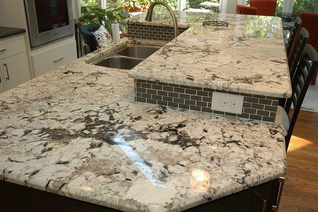 Boulder White Granite Countertops Love These Veins White Granite Granite Island White Granite Countertops
