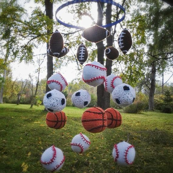 Sports Baby Boy Nursery Ideas: Sports Themed Mobile Baby Crib Nursery Football By
