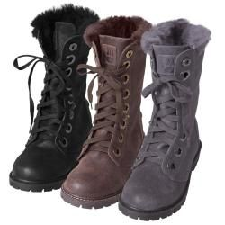 085a6a51213 Bearpaw Women's 'Kayla' Suede Sheepskin-lined Lace-up Lug Sole Boots ...