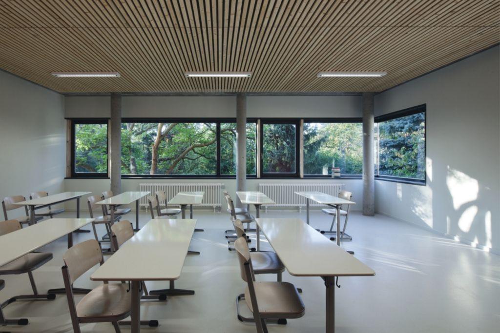 dlw linoleum references school canteen zum grauen kloster berlin armstrong - Linoleum Restaurant Interior