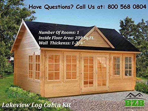amazon com bzbcabins com lakeview log cabin kit garden outdoor rh pinterest com