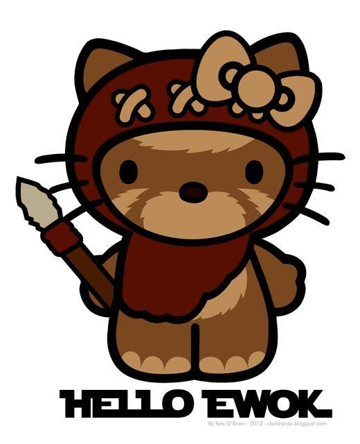 Hello Ewok Hello Kitty Ewok Kitty