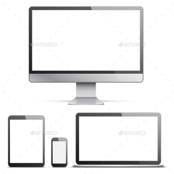 Electronic Devices With White Screens Electronic Devices Desktop Computers Devices
