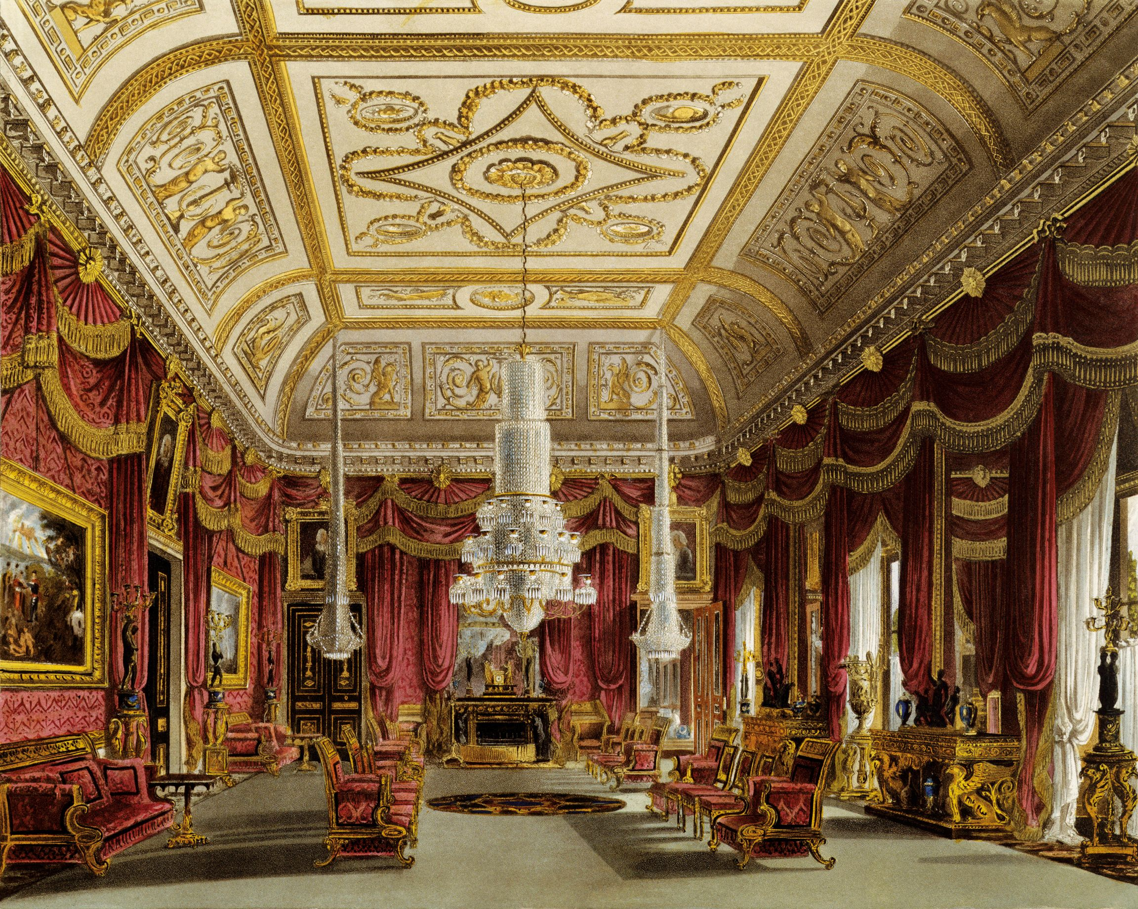 the drawing room carlton house wall hanging by w h pyne rh pinterest com