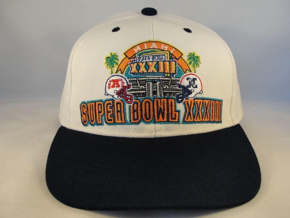 NFL Super Bowl XXXIII Vintage American Needle SAMPLE Snapback Hat Cap   AmericanNeedle  SuperBowlXXXIIIVintage daf964bc9