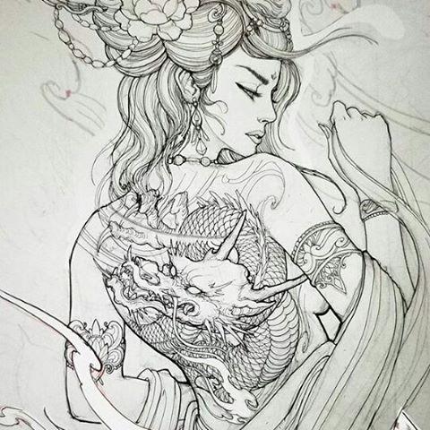 Images About Chronicink Tag On Instagram Tatuagem Gueixa