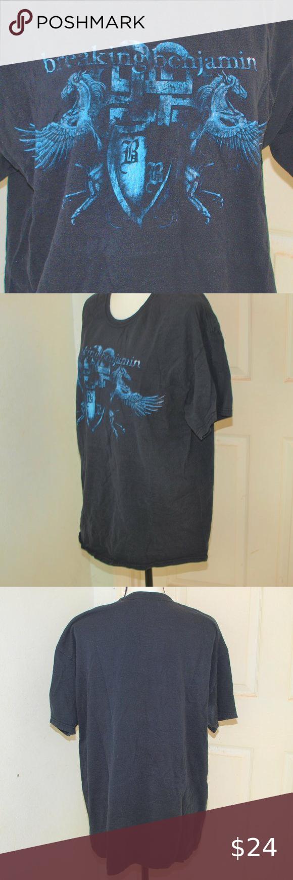 Breaking Benjamins Black Tee Shirt XL Breaking Benjamins Black Tee Shirt XL Hanes Shirts Tees - Short Sleeve