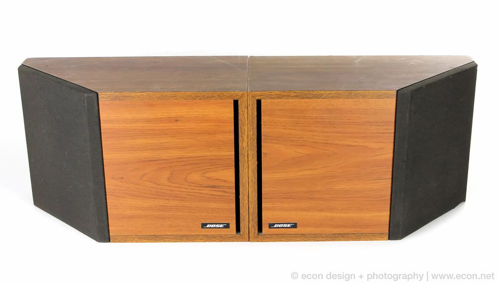 PAIR VINTAGE BOSE 2.2 STEREO BOOKSHELF SPEAKERS WOOD GRAIN CABINETS GREAT  SOUND #Bose