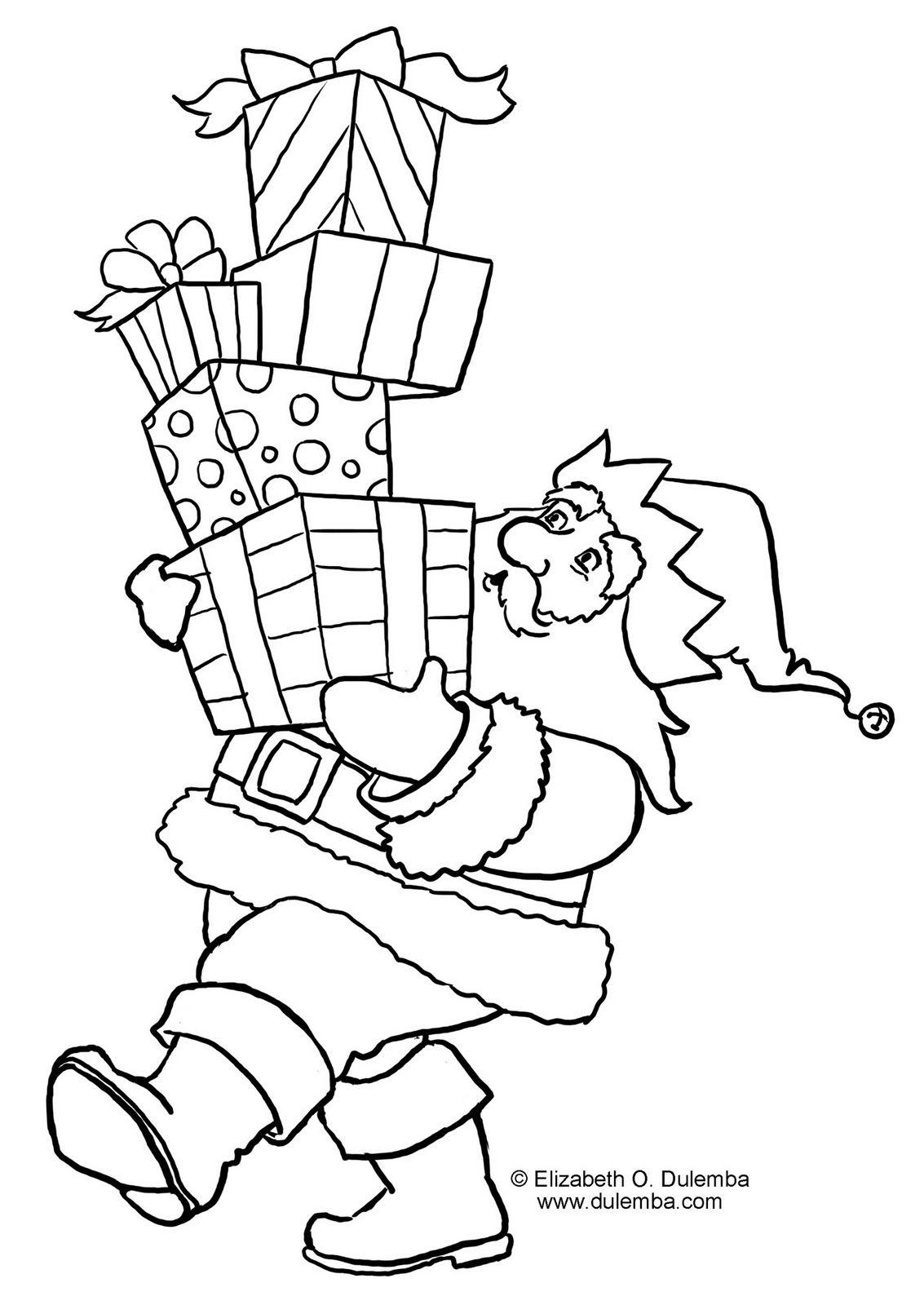 Lindos Desenhos De Natal Com O Papai Noel Desenho De Natal Páginas Para Colorir Papai Noel Para Colorir
