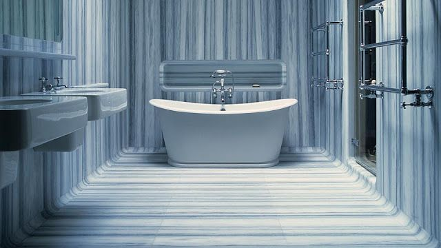 In Good Taste Drummonds Freestanding Bathtubblue Marblesmarble
