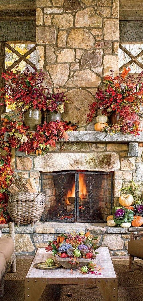 Fall Fireplace Decor Fall Home Decor in