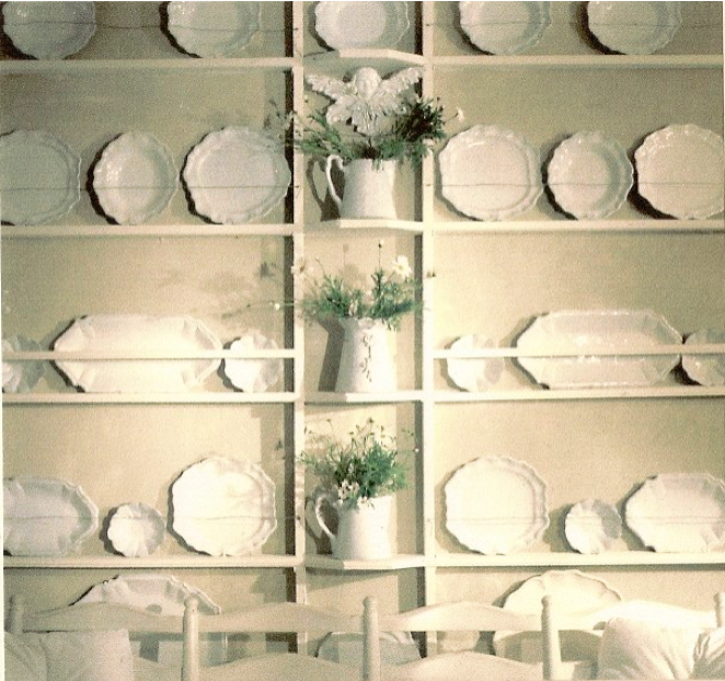 a wall of plates in a horizontal rack similar to swedish rh pinterest com