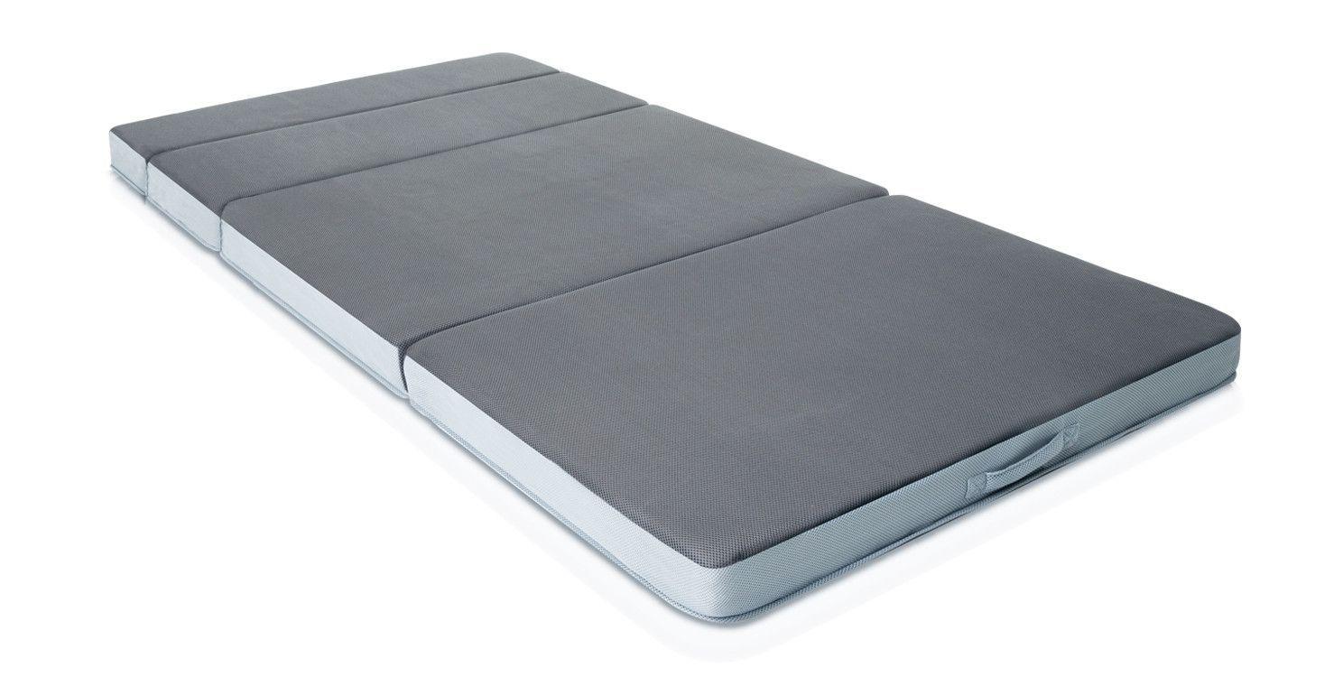 folding 4 firm memory foam mattress rv chair mattress portable rh pinterest com