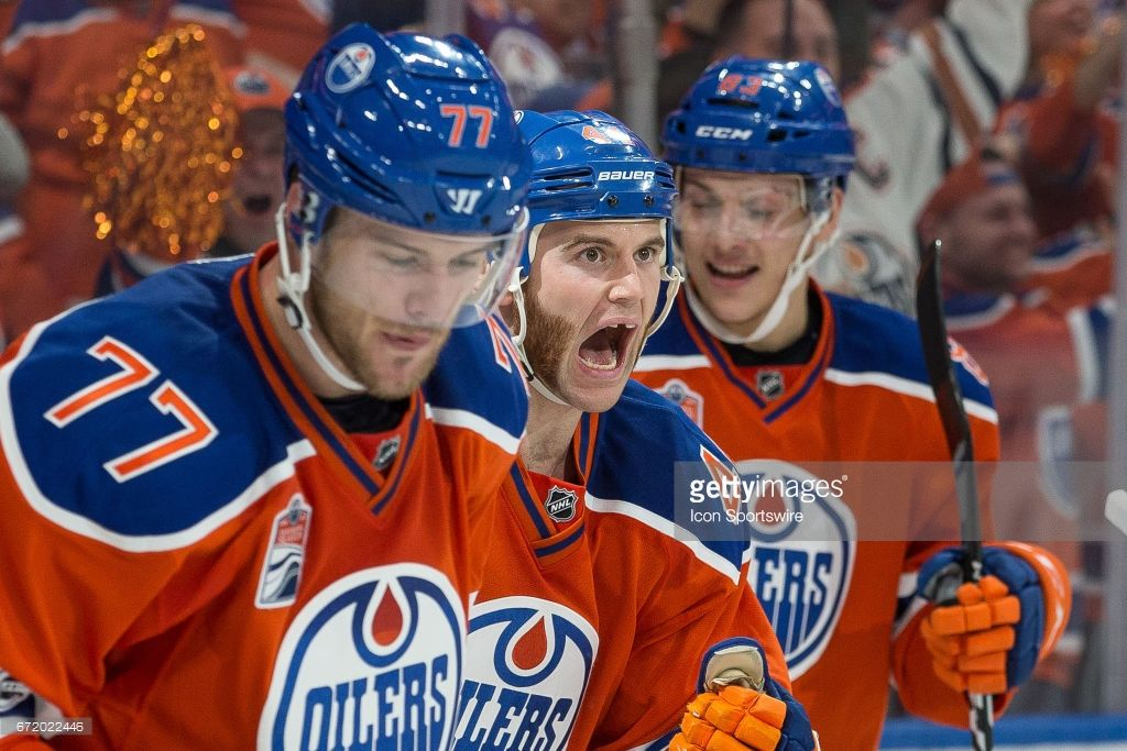 49ffb32536a Edmonton Oilers Right Wing Zack Kassian (44) yelling in celebration of the  game tying