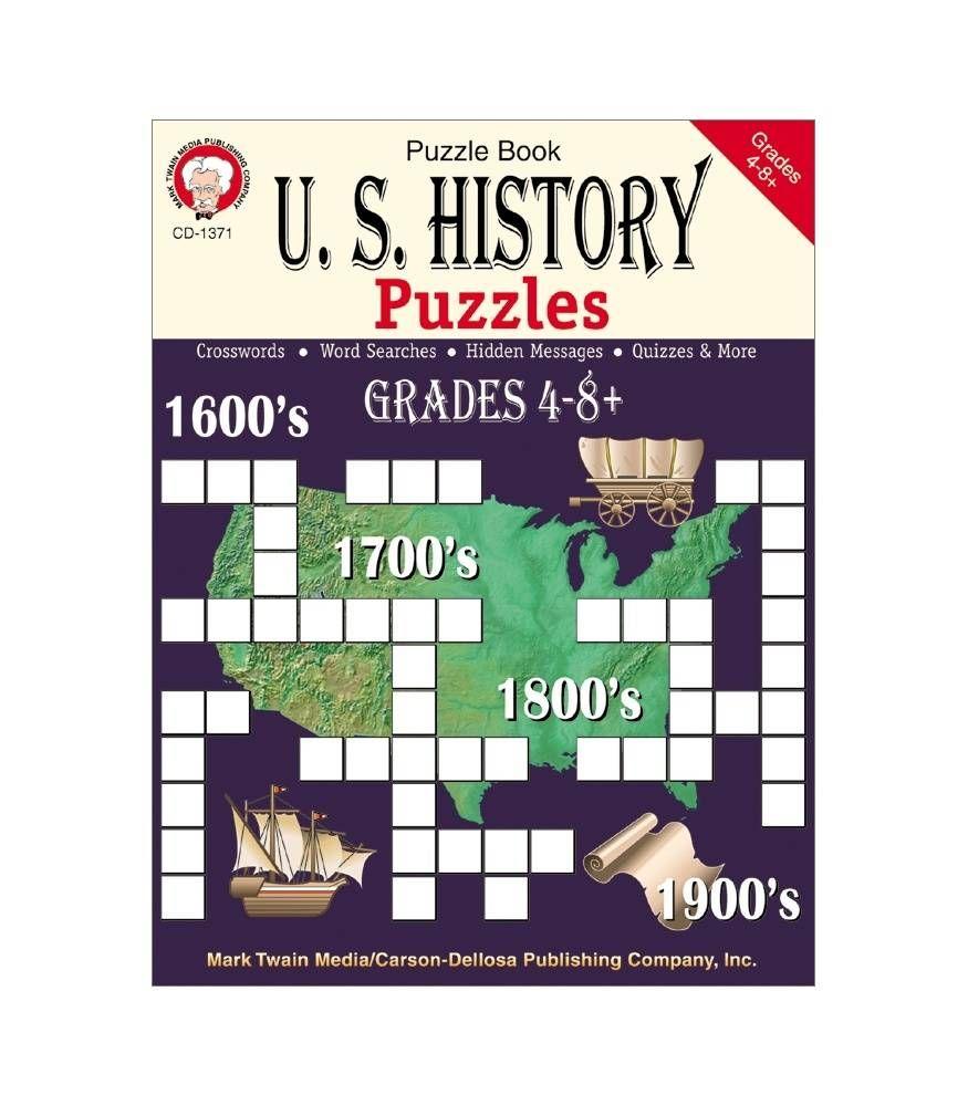 U.S. History Workbook Grades 4-8+   History Fun   Pinterest