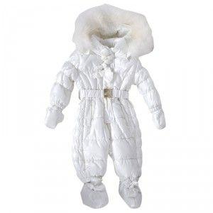 4b0204a99 Kids Cavern - Monnalisa, Baby, Girls, 'Fur Trim', White, Padded, Snowsuit -  Armani Junior, D, Childrens Clothing, Designer clothes, fashion, Kids Cavern,  ...