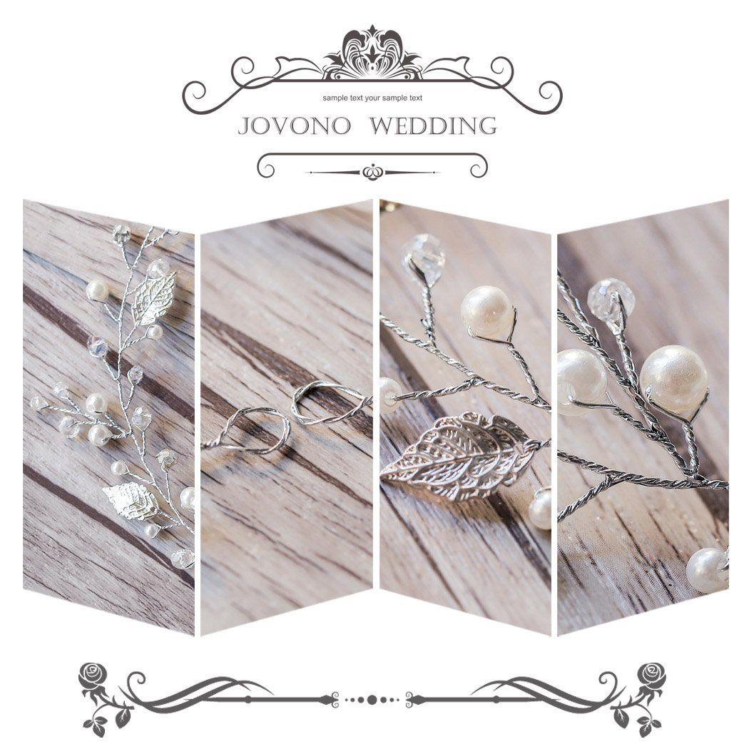 jovono wedding hair vine with alloy leaf rhinestone and bead