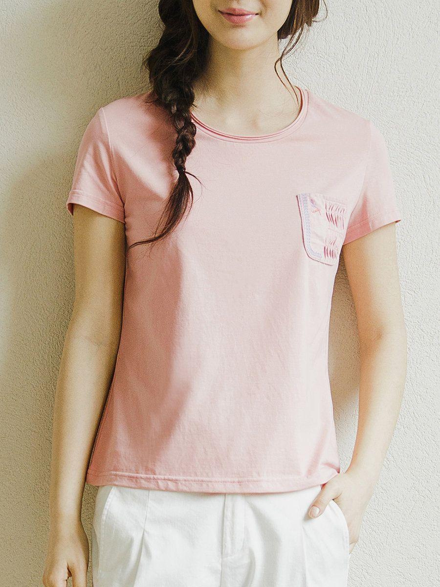 Adorewe stylewe tshirtsdesigner inman pockets crew neck simple