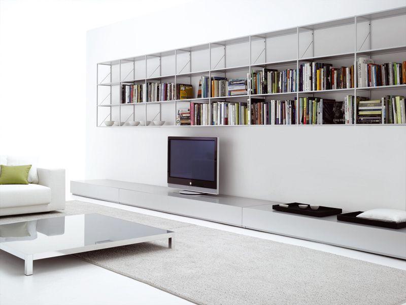 mueble tv bajo lacado lowboard by mdf italia diseo ennio arosio