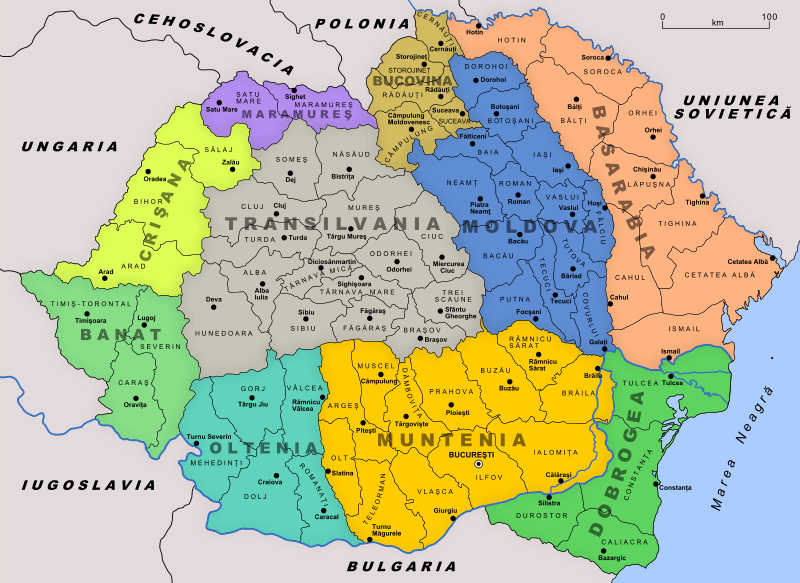 Transylvania Romania Map Transylvania Romania | Post World War I Map of Transylvania