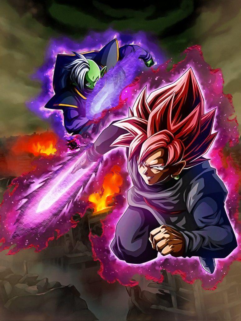 Dokkan Battle Lr Black And Zamasu Wallpaper 1440p By