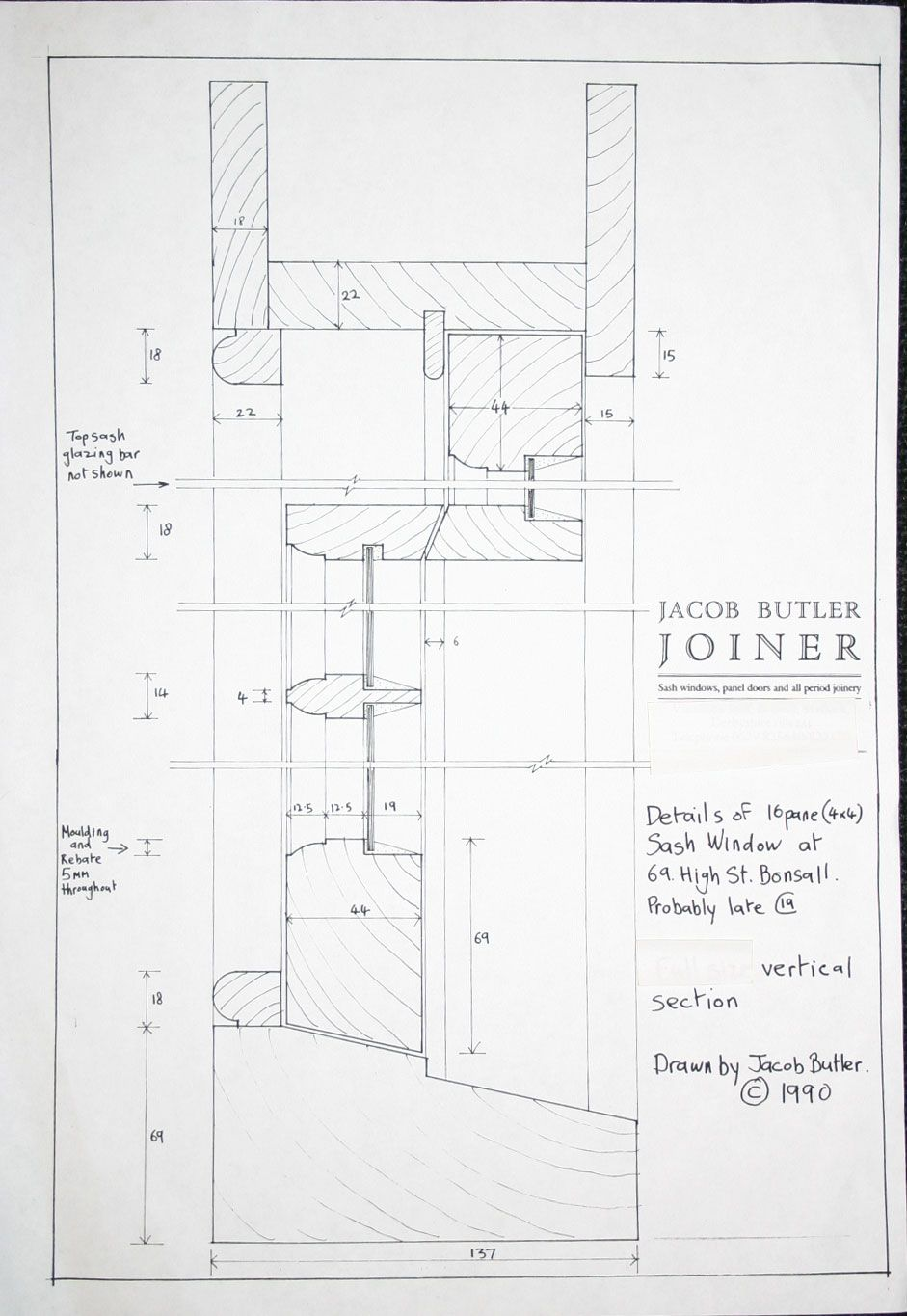 Traditional Timber Sash Drawing Archreference
