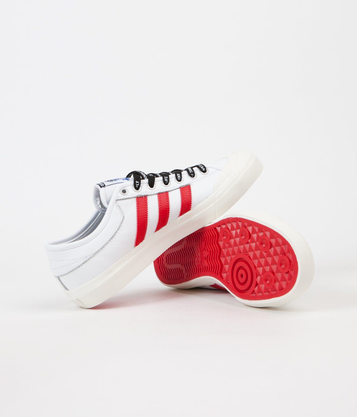 Adidas x Trap Lord Ferg Matchcourt Shoes - White / Scarlet