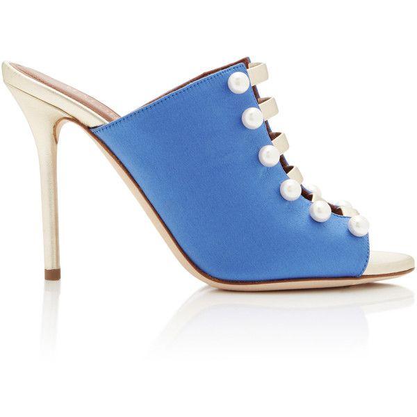 Malone Stiletto Mules Souliers - Bleu 13Omx