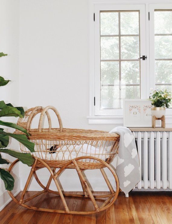 Vintage Stil Afrikanischer Stubenwagen Baby Moses Basket Bedroom