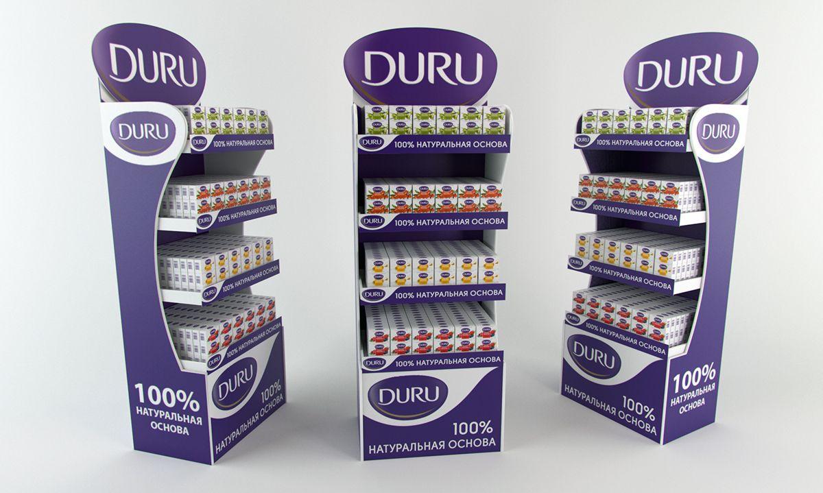 Duru floor display. POSm. on Behance