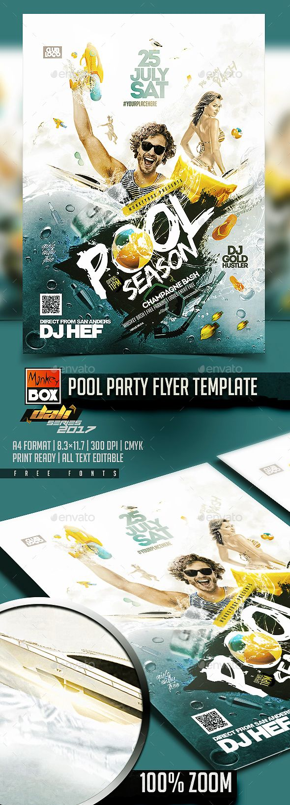 Pool party flyer template party flyer flyer template and template saigontimesfo