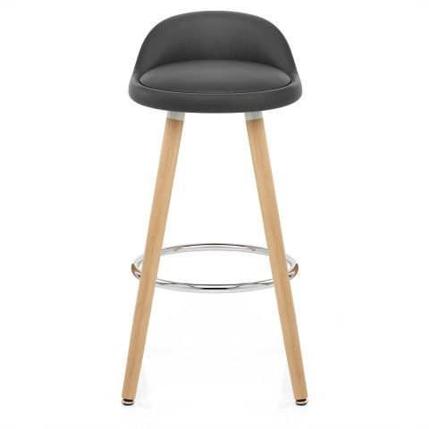 Jive Wooden Stool Grey Wooden Stools White Leather Bar Stools