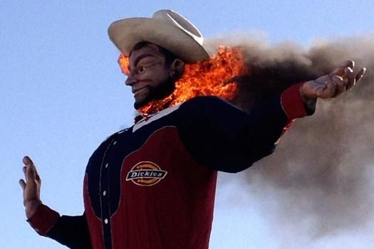 Giant 'Big Tex' statue burns down after 60 years as State Fair ...