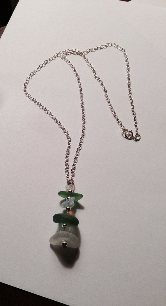 Hey, I found this really awesome Etsy listing at https://www.etsy.com/listing/90276366/sterling-silver-chain-with-stacked-green
