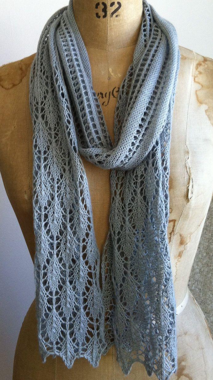 Free Knitting Pattern for Easy Summer Stream Scarf | knitting ...