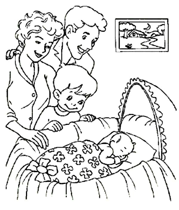 Welcoming New Member Of Family Babies Coloring Pages Bulk Color Baby Coloring Pages Family Coloring Pages Coloring Pages