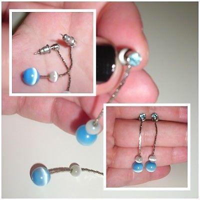Ohrringe silber stecker kugel