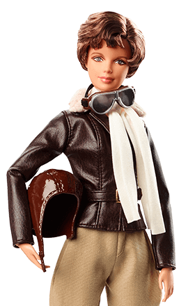 NEW Barbie 2018 Inspiring Women Amelia Earhart Doll Off White Scarf ~ Clothing