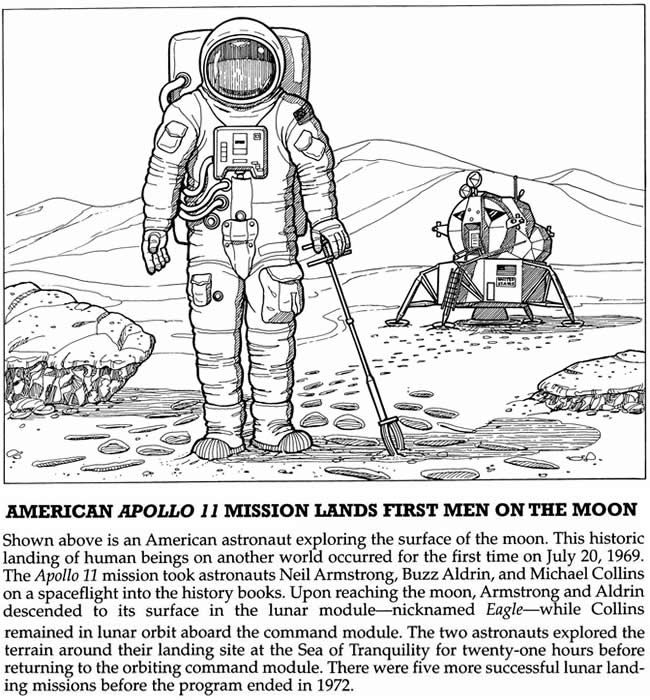 free apollo 11 coloring pages - photo#8