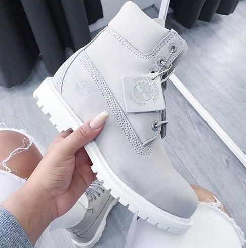 timberland grise et blanche femme