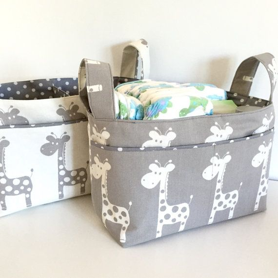 Ny Caddy Change Table Organiser Fabric Basket Nursery Storage