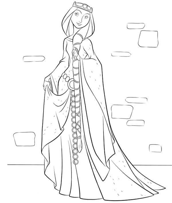Beautiful Queen Elinor In Disney Brave Coloring Page Mom Coloring Pages Kids Printable Coloring Pages Barbie Coloring Pages