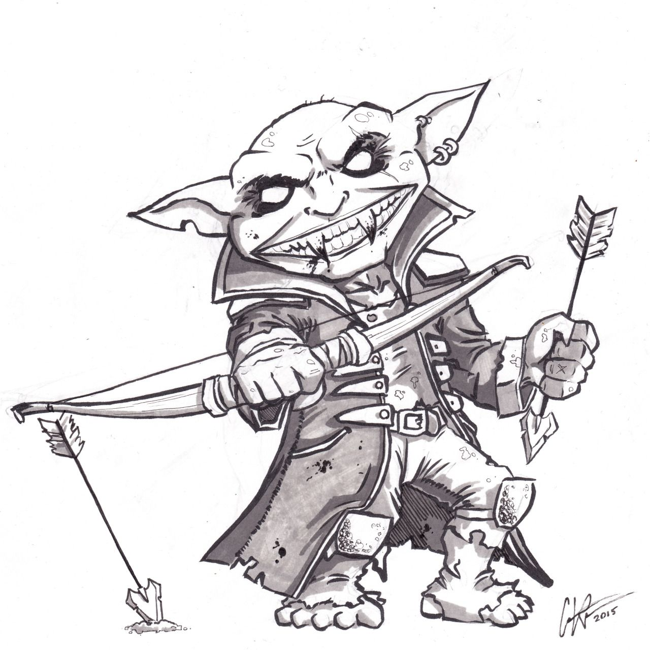 Male Goblin Chief Cleric of Zarongel Pathfinder PFRPG DND